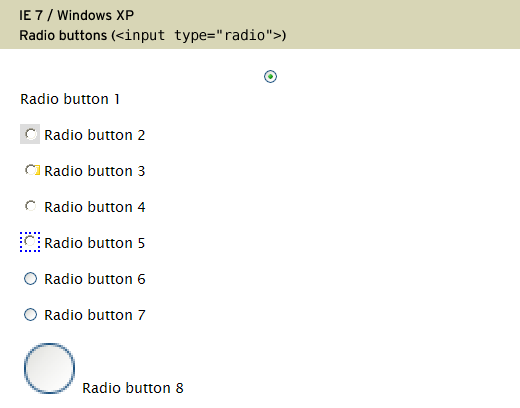 Styling radio buttons with CSS | 456 Berea Street